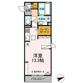 (仮)D-room中央町・101号室の間取り