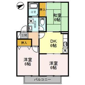 エトワール安朱Ⅱ・202号室の間取り