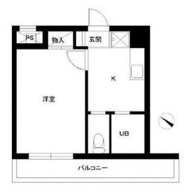 スカイコート日本橋浜町第2・504号室の間取り