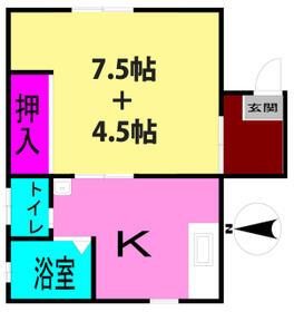 オーチャードハウス・1-B号室の間取り