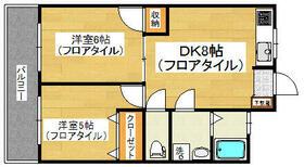 松栄スカイコーポ・303号室の間取り