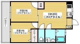 松栄スカイコーポ・402号室の間取り