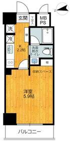 旗の台アパートメント・202号室の間取り