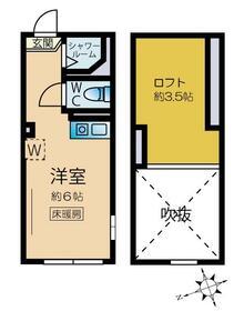 ネクサス新宿 戸山公園・204号室の間取り