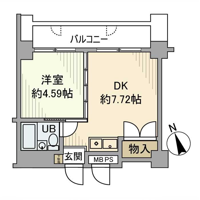 アズール上野・1003号室の間取り
