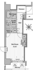 レジディア月島II・0609号室の間取り