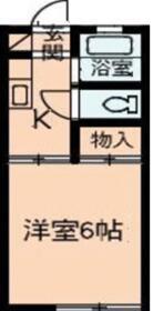 戸祭アパート・42号室の間取り