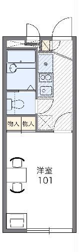 レオパレス箱根ヶ崎新宿坂・204号室の間取り