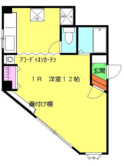 ハイツ汐先 101号室の間取り