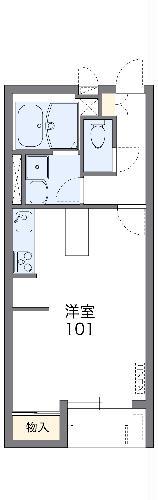レオネクストGF桐生・208号室の間取り
