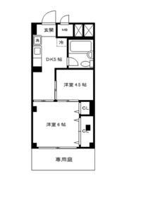 ワコー第2マンション・103号室の間取り