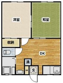 コーポ富士塚・103号室の間取り