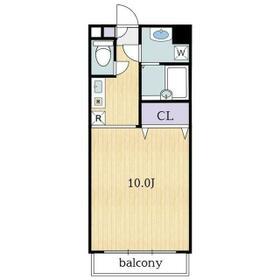 エスポワール奥戸・0206号室の間取り