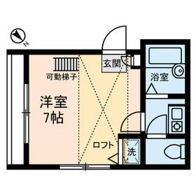 シャンテ鷲神社前・0301号室の間取り