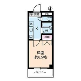 グローイングシティー大和田・0403号室の間取り