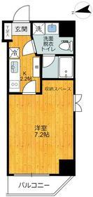 旗の台アパートメント・201号室の間取り