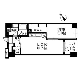 レジディア日本橋浜町・0302号室の間取り