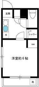 プリオール新宿・105号室の間取り