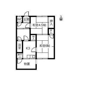 稲島10丁目植田貸家A102号室・102号室の間取り
