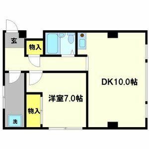ネットワークジャパンⅡ・0204号室の間取り