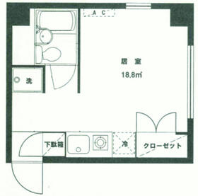 サイトウハウスⅢ・201号室の間取り
