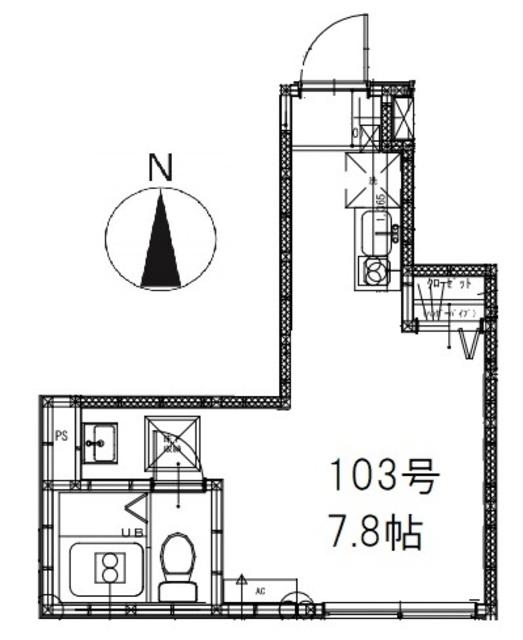 ウィンズ・パレ上石神井 103号室の間取り