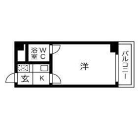 プレズ名古屋鶴舞・4B号室の間取り