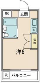 ピュアコーポヤマザキ・302号室の間取り