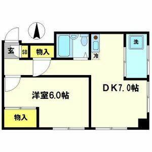 ネットワークジャパンⅡ・0203号室の間取り
