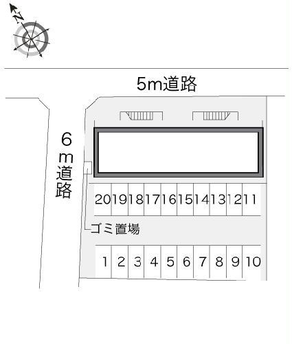 レオパレスエスパシオ 203号室のエントランス