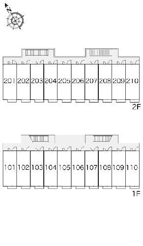 レオパレスエスパシオ 208号室のバルコニー