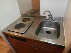 レオパレスイレブン 102号室のキッチン