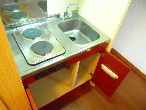 レオパレスY90 101号室のキッチン