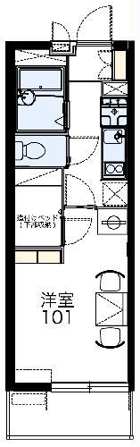 レオパレスエルムトゥプ 210号室の間取り