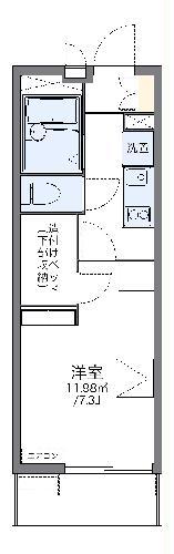 レオパレスエルムトゥプ 305号室の間取り