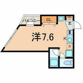 渡辺ハイツ・101号室の間取り