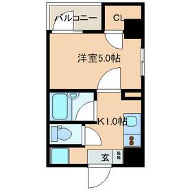 レジディア文京湯島II・0902号室の間取り