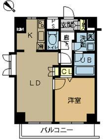 スカイコート富士見台・301号室の間取り