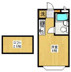 セゾンフローラA・203号室の間取り