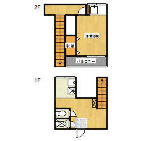 下山荘・2-A号室の間取り