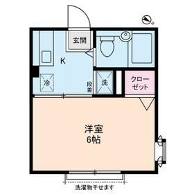 カディカワセⅡ・0201号室の間取り