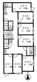 五反野Ⅰシェアハウス・206号室の間取り