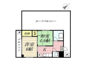 横田ハウス・0501号室の間取り