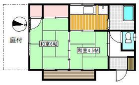 松村住宅・1号室の間取り