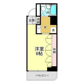 エルム菊川・402号室の間取り