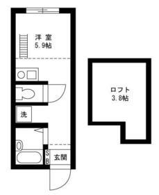 戸塚区上矢部アパートメントB棟・203号室の間取り