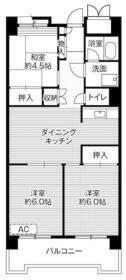 ビレッジハウス品川八潮タワー1号棟・0613号室の間取り