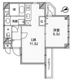 モンシャトー鶴見成和 705号室の間取り