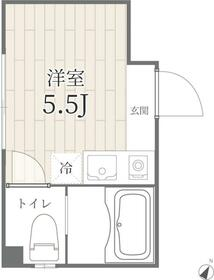 PROTO渋谷神泉I・204号室の間取り