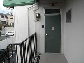 グリーンビレッジ 202号室の玄関